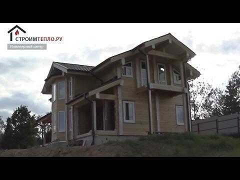 Монтаж отопления и котельной в деревянном доме из клееного бруса Алькор (СтроимТепло.Ру)
