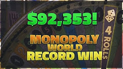 90,000$+ INSANE WIN ON MONOPOLY (World record on video)