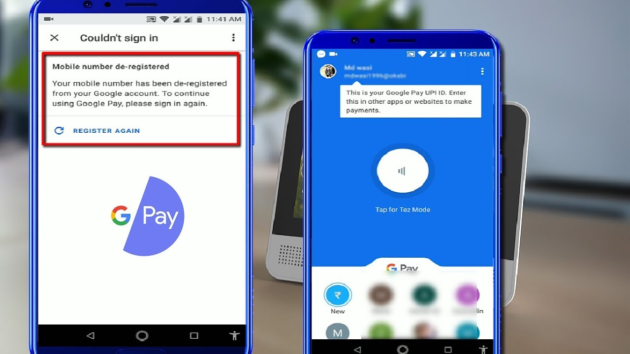 How to Solved Google Pay Issue Mobile Number De Registered in Android
