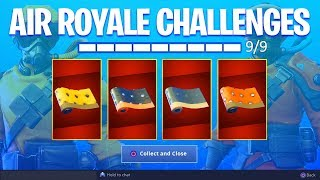 *NEW* ALL AIR ROYALE CHALLENGES UNLOCKED! (Fortnite Free Rewards)