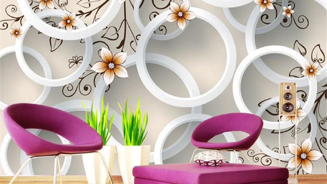 Best 3d Wallpaper For Your Wall Beautiful 3d Wallpaper Decorating Youtube