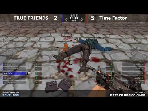 Полуфинал турнира по CS 1.6 от проекта Region-game.ru [TRUE FRIENDS -vs- Time Factor]1map @kn1fe TV