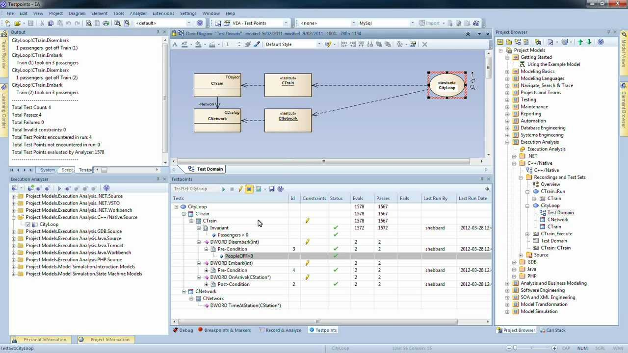 Testpoint Management Within Enterprise Architect Youtube