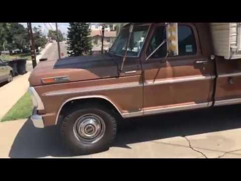 Vintage Camper 1972 Slide In Truck