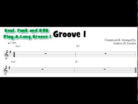 Funk Play-A-Long Groove 1 with 2 Riffs to practice with.
