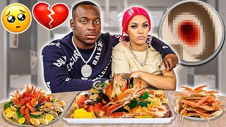 WE ALMOST LOST OUR BABY 💔😭 (KING CRAB SEAFOOD BOIL MUKBANG)