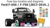 Ford F650 F750 2004 2010 Fuse Box Diagrams Youtube