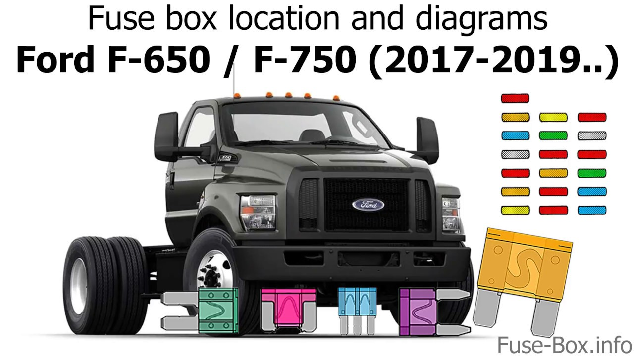 fuse box location and diagrams: ford f-650 / f-750 (2017-2019-..) - youtube  youtube