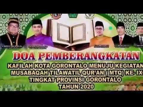 Wakil Wali Kota Gorontalo Melepas 41 orang Kafilah Kota Gorontalo yang akan mengikuti MTQ di Gorut