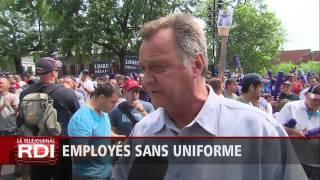 Employés sans uniforme
