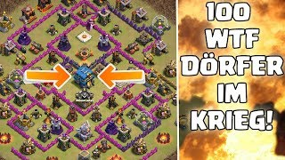100 WTF DÖRFER IM KRIEG! ☆ Clash of Clans ☆ CoC