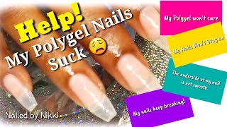 Trouble Shooting Polygel Issues Using YAYOGE POLYGEL👍🏽