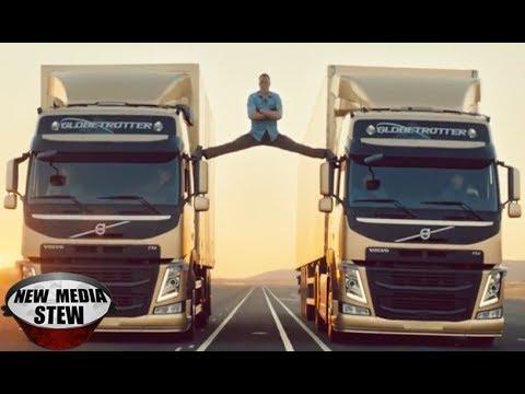 JEAN-CLAUDE VAN DAMME Epic Split in Volvo Commercial - YouTube