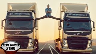 JEAN-CLAUDE VAN DAMME Epic Split in Volvo Commercial