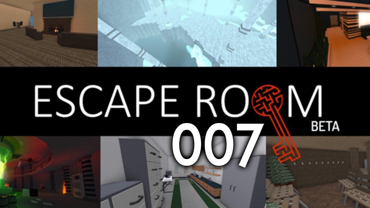 007 Walkthrough Escape Room Roblox Youtube