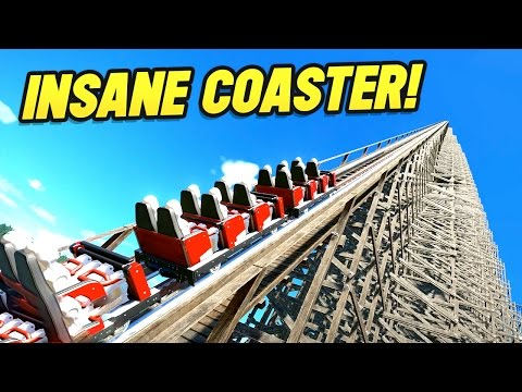 WORLDS BIGGEST WOODEN COASTER!! (Planet Coaster Beta)