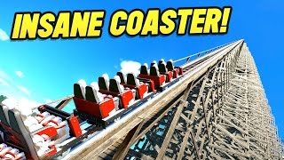 WORLDS BIGGEST WOODEN COASTER!! (Planet Coaster Beta)