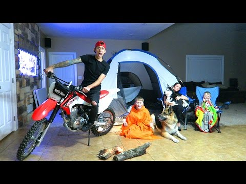 Thumbnail: CRAZY INDOOR CAMPOUT!!