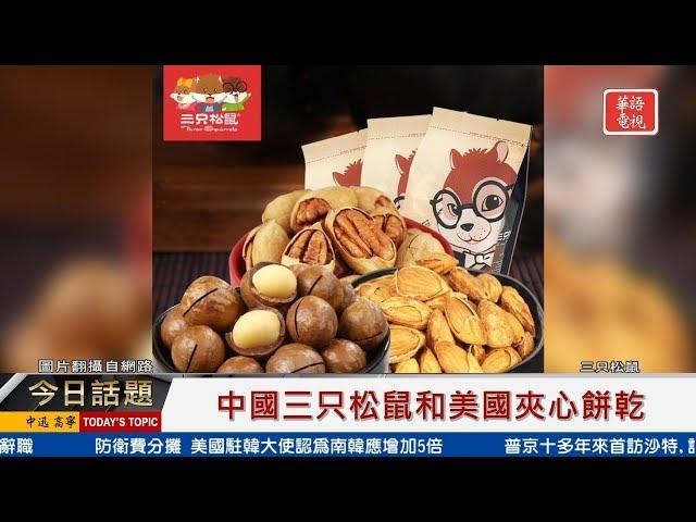 中國三只松鼠和美國夾心餅乾  10142019