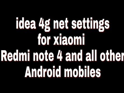 how to activate idea 4g sim in redmi note 4