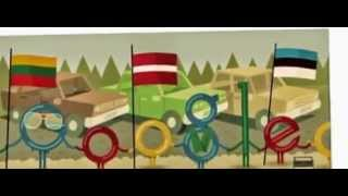 25th Anniversary of the Baltic Way - Google Doodle