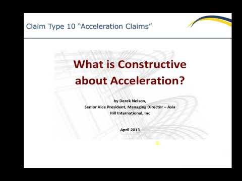 Acceleration Claims Lec 24