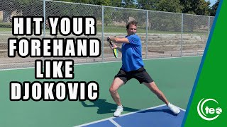 Novak djokovic has arguably one of the best wide tennis forehands in world. this lesson, jeff salzenstein shares three key elements to master t...