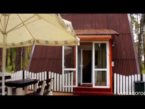 """Альпийский домик на """"Лесной сказке"""", оз.Балтым"""