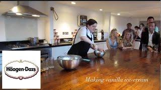Masterchef Natalie Coleman Making Vanilla Icecream With HÄagen Daz