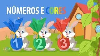 Numeros de 1 a 10 e as cores - Numeros para educação infantil - Cores infantil