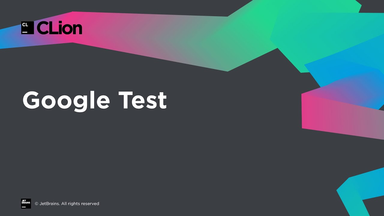 Google Test support in CLion