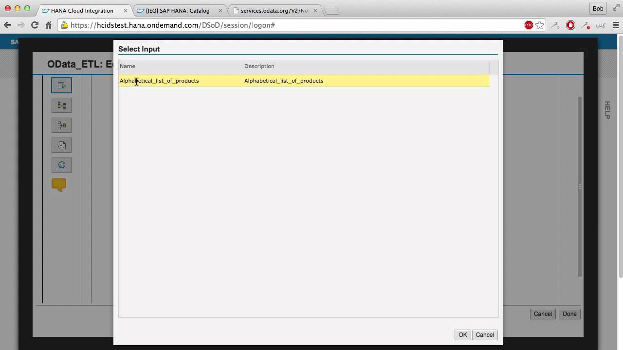 SAP HANA Academy - HCI Data Services: OData to HCP Task