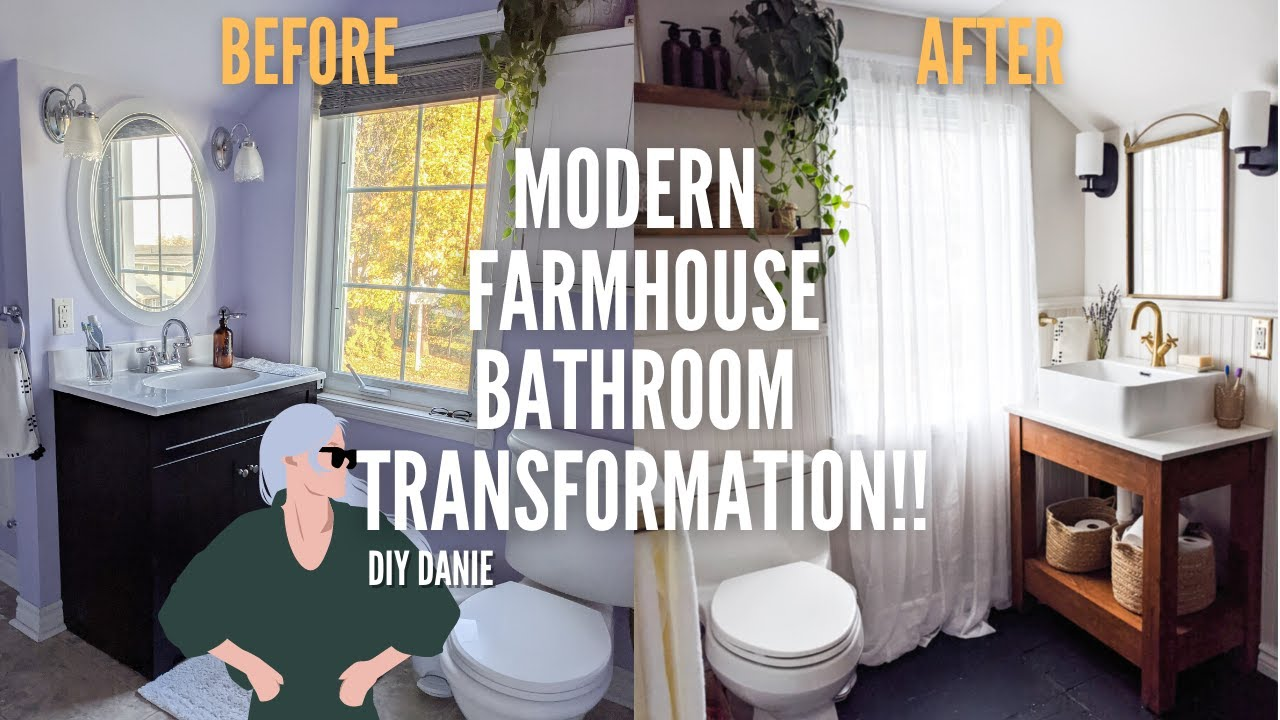 *EXTREME* DIY Modern Farmhouse Bathroom Makeover | Home Made Home | EP 4