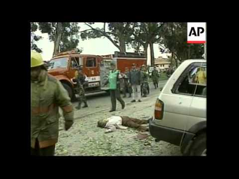 COLOMBIA: BOGOTA: CAR BOMB EXPLODES IN BUSY STREET