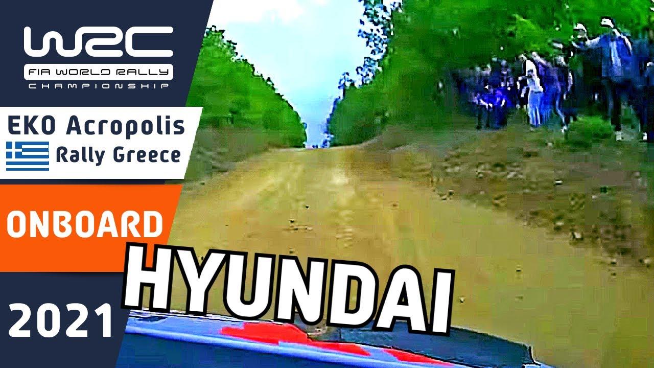 WRC Rally Onboard : Hyundai Motorsport : EKO Acropolis Rally Greece 2021 : Neuville - Sordo - Tänak