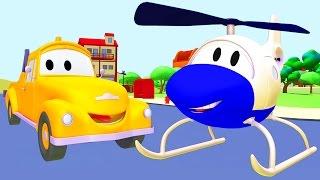 Odtahový vůz Tom a Pomozte svému příteli | Animák z prostředí staveniště s auty a nákladními