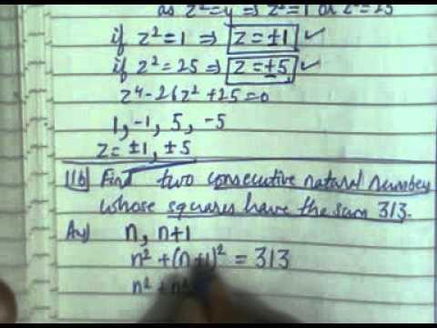 11-equations reducible to quadratic equations [question mp board ...