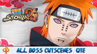 Naruto Shippuden Ultimate Ninja Storm 2 All Boss Fight Cinematic Cutscenes | Jap sub Español 1080p