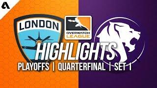 London Spitfire vs LA Gladiators | Overwatch League Playoffs Highlights Quarterfinals Match 1