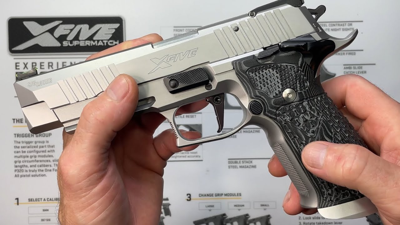 SIG Sauer P226 X5 SuperMatch Armory Craft Edition unboxing / review video.
