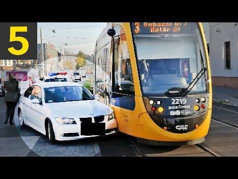 Top 5 Bad Drivers VS Trams - oblivious drivers!