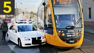 Top 5 Bad Drivers VS Trams - oblivious drivers!