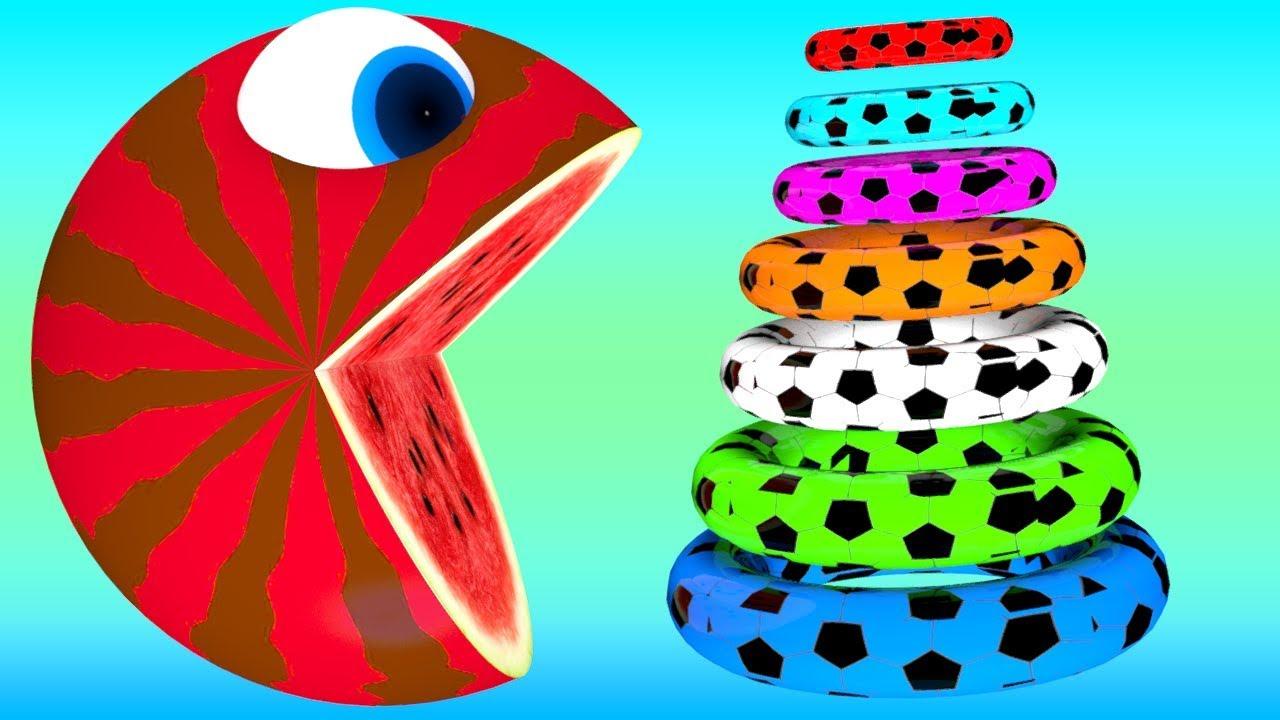 Download Pacman meets ac crocodile pacman watermelon rolling on farm as he fire box