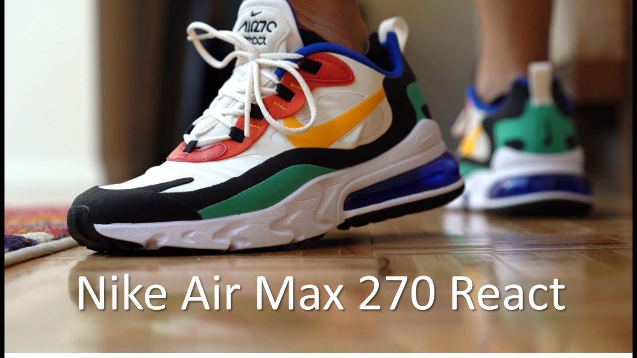 nike air max 270 react on feet