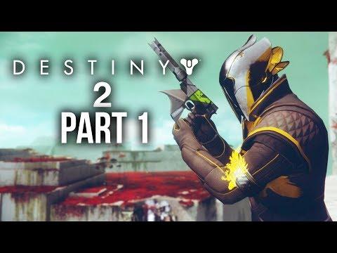 DESTINY 2 WARLOCK Gameplay Walkthrough Part 1 - HOMECOMING MISSION 1 - Closed Beta