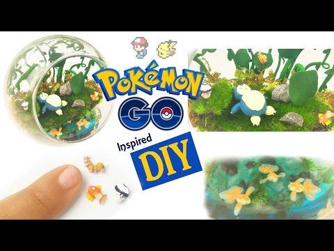 DIY POKEMON GO MINI ENVIRONMENT Resin & Polymer Clay Tutorial - how to make pokemon craft