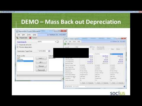 Microsoft Dynamics GP 2013 - Fixed Assets Management