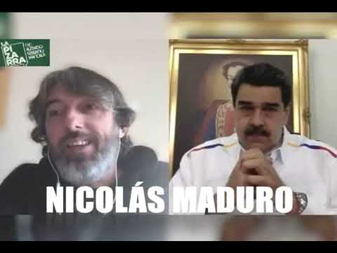 Nicolás Maduro entrevistado por Alfredo Serrano Mancilla para Radio La Pizarra, 18 de abril de 2020