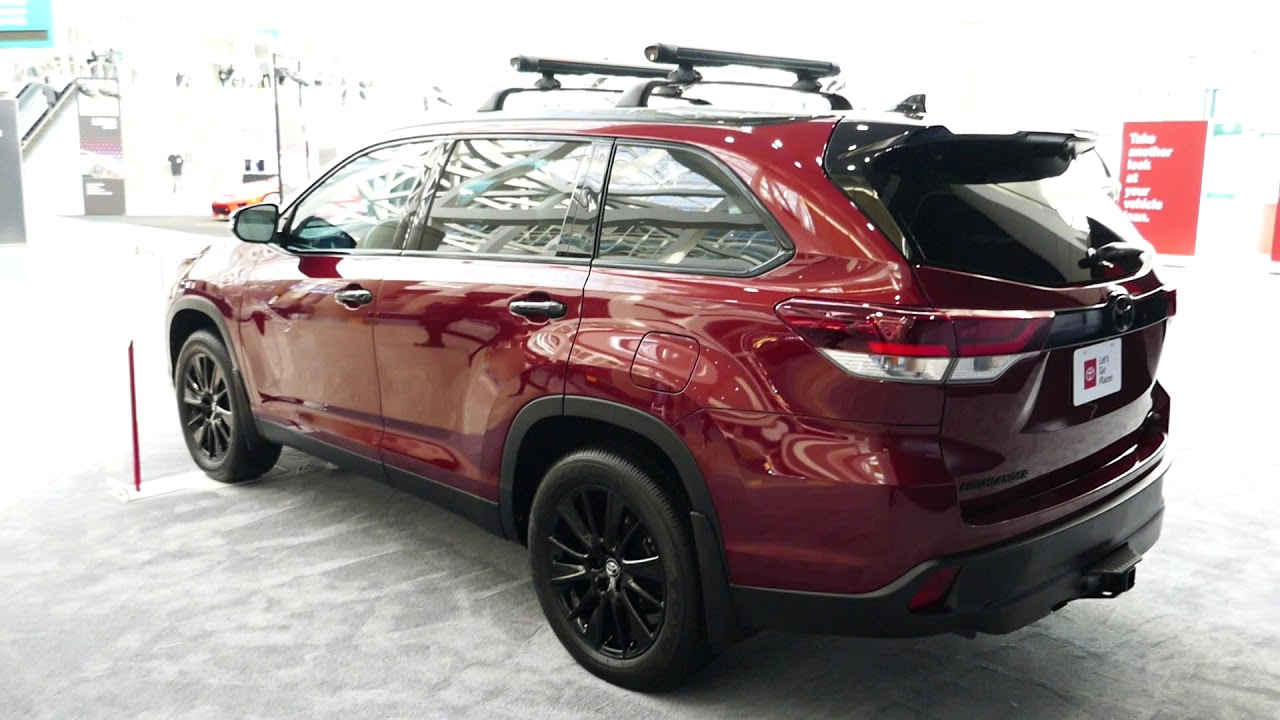 New 2019 Toyota Highlander Suv Nightshade Special Edition 2018