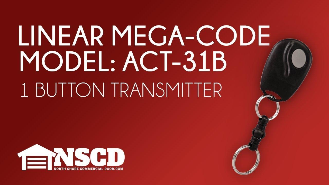 Linear Mega Code ACT 31B ACP00879 Mini Gate or Garage Door Opener Remote